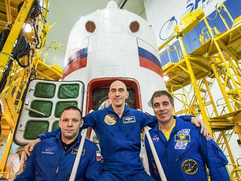 Three astronauts are launching to space Thursday after lengthy quarantine