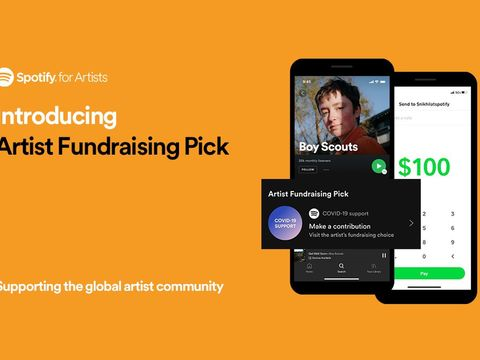 Musicians can now link out to their own fundraisers on their Spotify landing pages