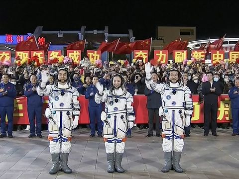 China launches latest crew of three en route to nation's Tianhe space station
