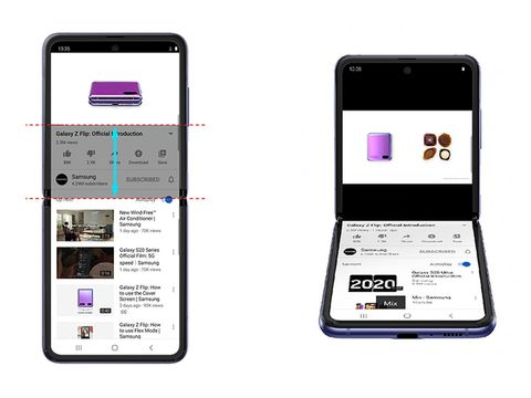 Samsung's Galaxy Z Flip gets a new split-screen YouTube experience