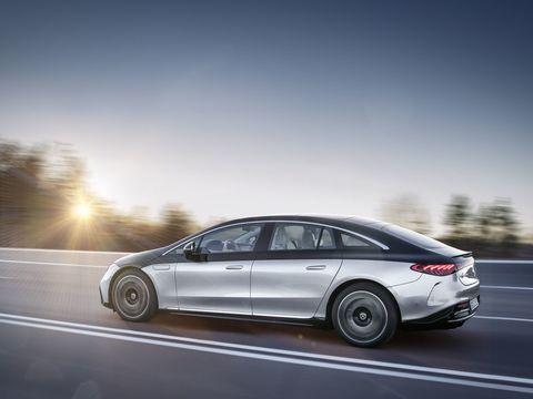 The six-figure Mercedes-Benz EQS gets a 350-mile range rating