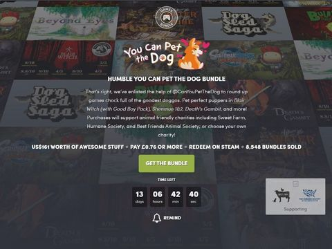 We're delighted to say you can pet the dogs in this video game bundle