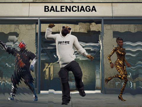 Epic's high-fashion collaboration with Balenciaga in Fortnite includes a hoodie for a walking dog