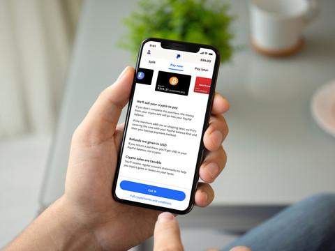 PayPal will let US users pay with Bitcoin, Ethereum and Litecoin starting today