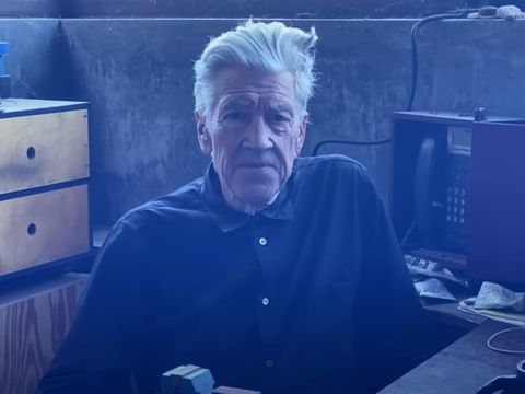 David Lynch's video weather reports from his bunker are surprisingly soothing