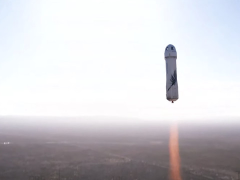 Blue Origin successfully sends William Shatner and crew to edge of space and back