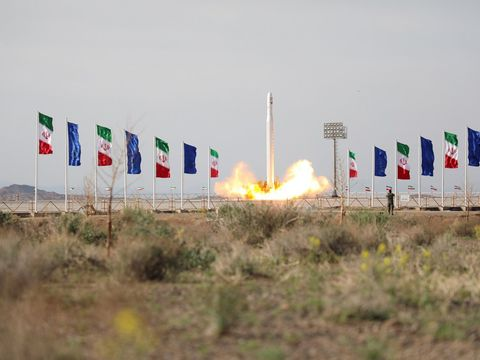 Iran claims it has successfully launched a military satellite